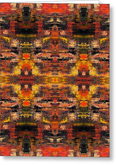Meditation Tapestries - Textiles Greeting Cards - Visage Wall Greeting Card by Ken OToole