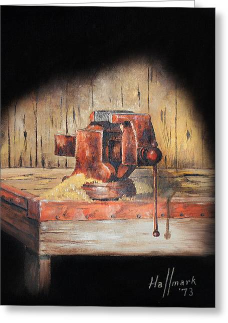 Bob Hallmark Greeting Cards - Vise Greeting Card by Bob Hallmark