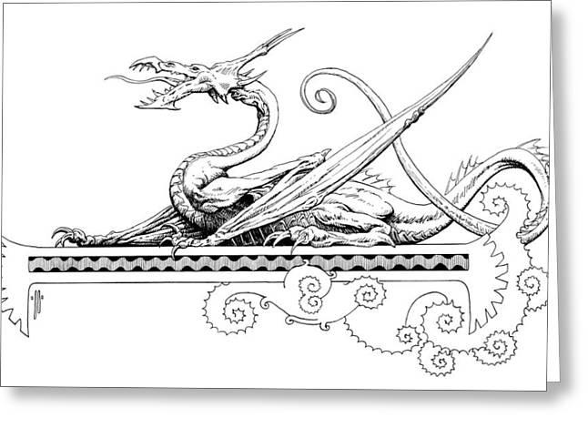 Viserion Logo Greeting Card by Richard Hescox