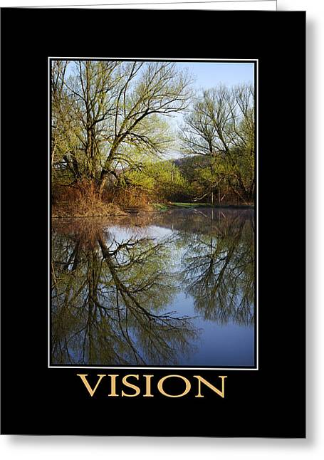 Rollo Digital Greeting Cards - Vision Inspirational Motivational Poster Art Greeting Card by Christina Rollo