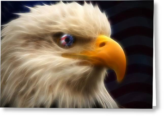 Vision Of Freedom II Greeting Card by Ricky Barnard