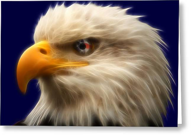 Vision Of Freedom Greeting Card by Ricky Barnard