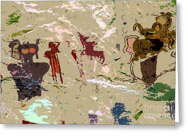 Pictograph Greeting Cards - Vision quest Greeting Card by David Lee Thompson