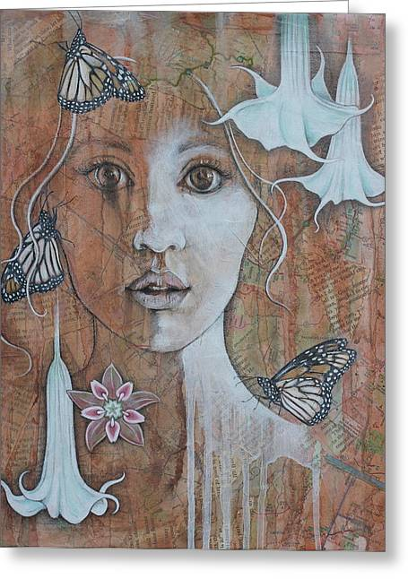 Gaia Mixed Media Greeting Cards - Vision Greeting Card by Sheri Howe