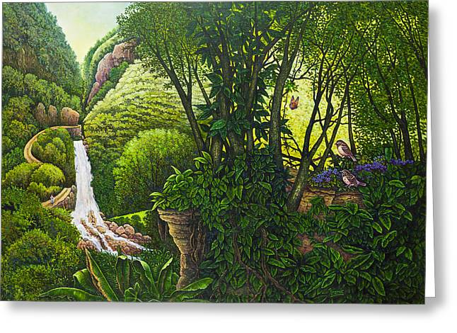 Paradise Road Greeting Cards - Visions of Paradise VI Greeting Card by Michael Frank
