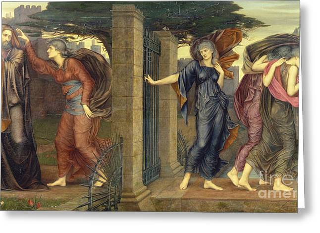 Allegorical Allegory Greeting Cards - Visit  Greeting Card by Celestial Images