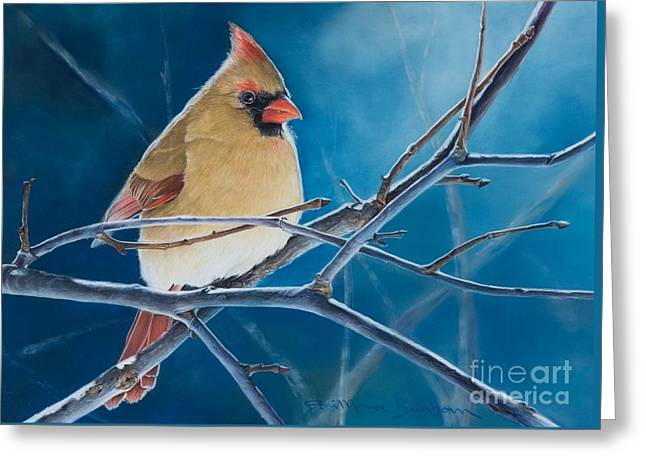 Heavens Pastels Greeting Cards - Visitor From Heaven Greeting Card by Joni Beinborn