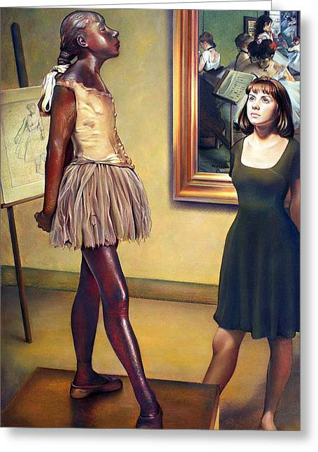 Edgar Degas Pastels Greeting Cards - Visit to the Museum Greeting Card by Patrick Anthony Pierson