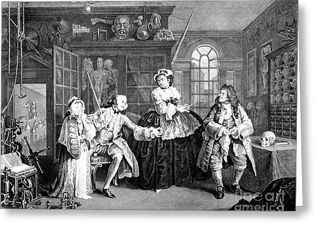 Venereal Greeting Cards - Visit To The Quack Doctor, 1745 Greeting Card by Science Source