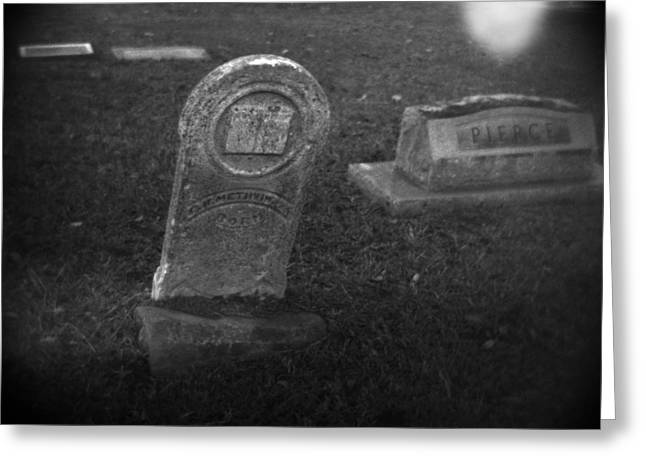 Headstones Greeting Cards - Visitation Greeting Card by Paul Anderson