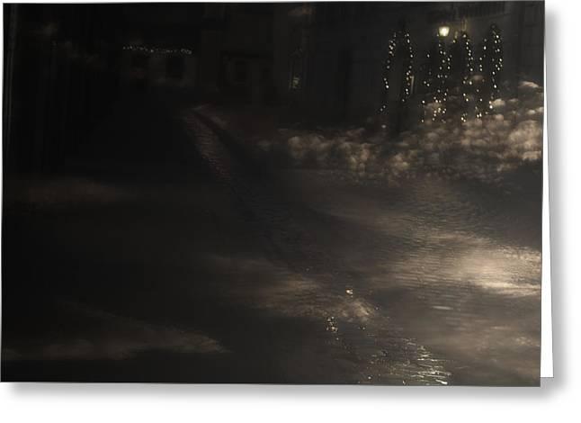 Winter Road Scenes Digital Greeting Cards - Visitation Greeting Card by Svetlana Neskovska