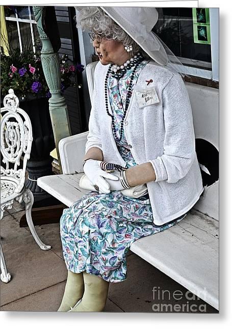 Sit-ins Greeting Cards - Visiting Miss Ellie Greeting Card by JW Hanley