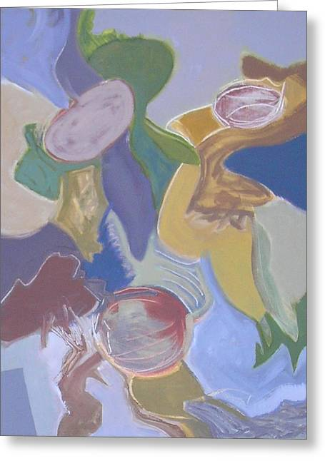 Abstract Expressionist Greeting Cards - Visual Jazz #1 Greeting Card by Philip Rader