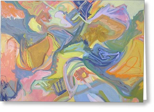 Abstract Shapes Greeting Cards - Visual Jazz #17 Greeting Card by Philip Rader