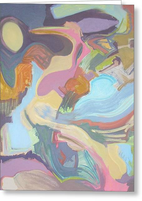 Abstract Shapes Greeting Cards - Visual Jazz #22 Greeting Card by Philip Rader