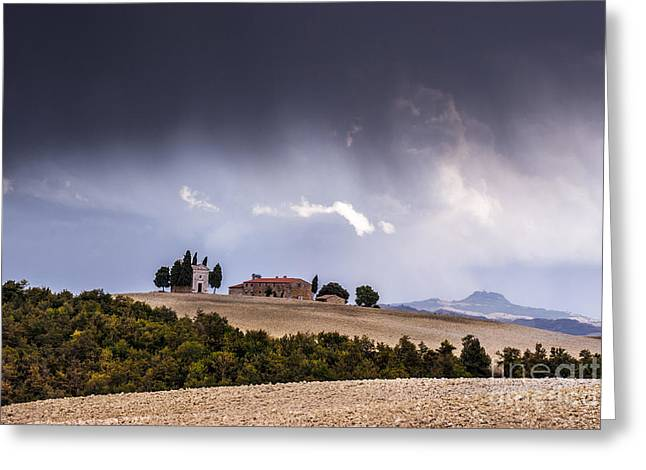 Storming Greeting Cards - Vitaleta chapel Greeting Card by Yuri Santin