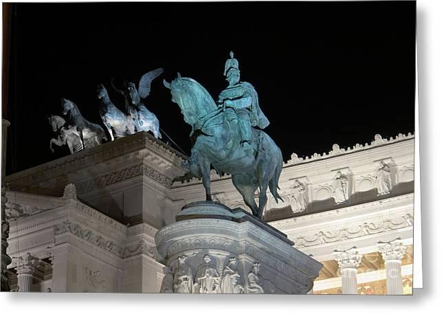 Emilio Greeting Cards - Vittorio Emanuele by night I Greeting Card by Fabrizio Ruggeri
