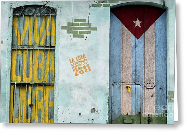 Volution Greeting Cards - Viva Cuba Libre Greeting Card by Xavier ARNAUD