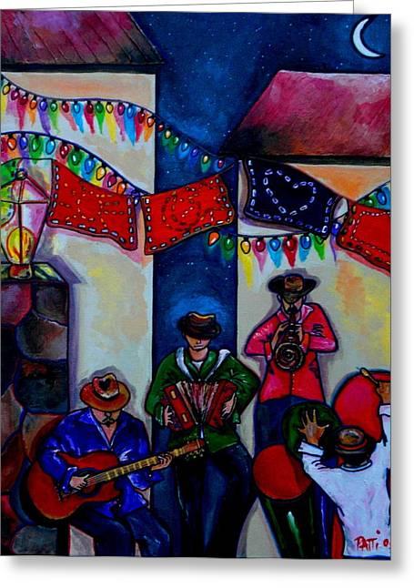 Riverwalk Greeting Cards - Viva La Musica Greeting Card by Patti Schermerhorn