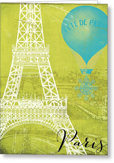 Viva La Paris Greeting Card by Mindy Sommers