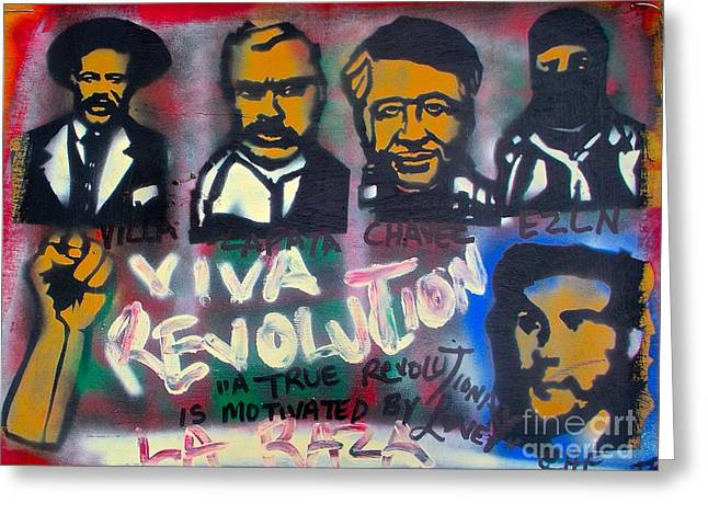 Recently Sold -  - Sit-ins Greeting Cards - Viva Revolution Greeting Card by Tony B Conscious
