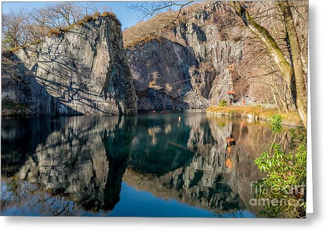 Dilapidated Greeting Cards - Vivian Quarry Greeting Card by Adrian Evans