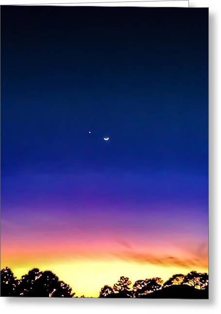 Moonrise Greeting Cards - Vivid Greeting Card by Denise DuFresne