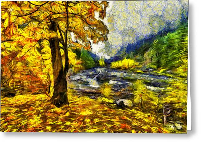Pipeline Photographs Greeting Cards - Vivid Pipeline trail Greeting Card by Mark Kiver