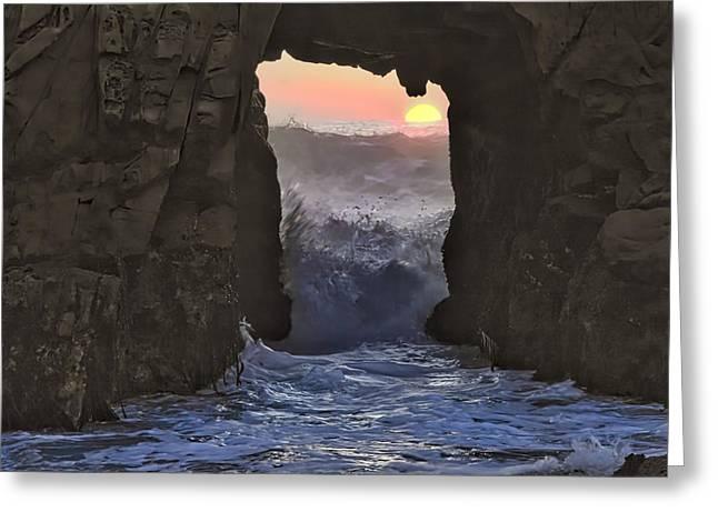 Vivid Spirit Portal Entry Greeting Card by Alan Kepler
