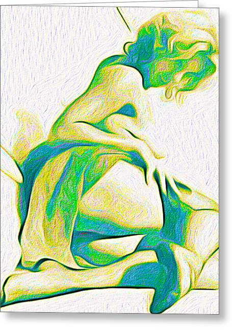 Floral Digital Art Greeting Cards - Vixen Greeting Card by Chris Andruskiewicz