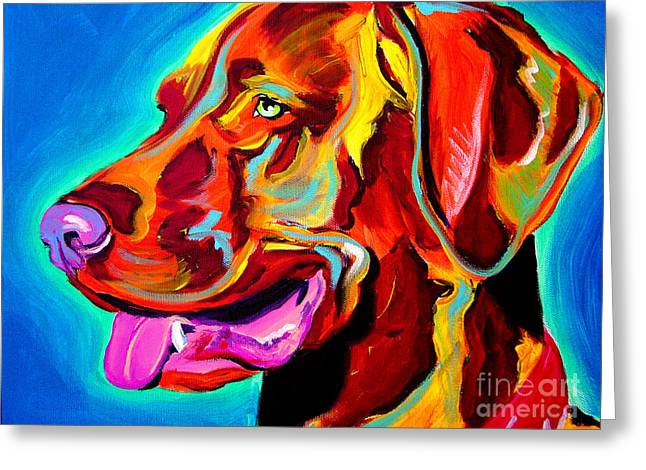 Alicia Vannoy Call Paintings Greeting Cards - Vizsla - Dog Days Greeting Card by Alicia VanNoy Call
