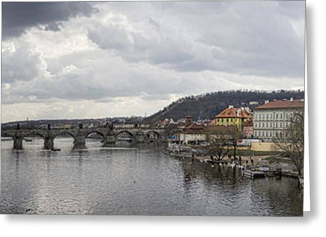 Nicholas Greeting Cards - Vltava River Scene Greeting Card by Heather Applegate