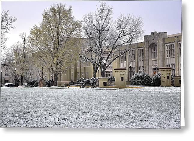 Rockbridge County Greeting Cards - Vmi Greeting Card by Todd Hostetter