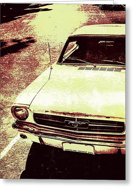 Vntage Ford Mustang Classic Car Greeting Card by Jorgo Photography - Wall Art Gallery