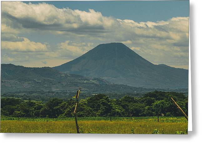 Jer Greeting Cards - Volcan Chingo 1 Greeting Card by Totto Ponce