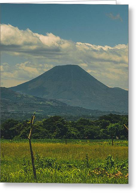 Jer Greeting Cards - Volcan Chingo Greeting Card by Totto Ponce