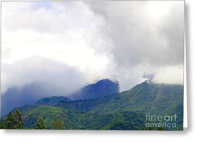 Al Central Greeting Cards - Volcan Panama Scene Greeting Card by Al Bourassa