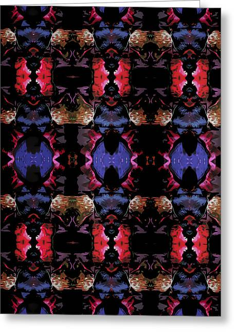 Royal Tapestries - Textiles Greeting Cards - Volcanic Blaze Greeting Card by Kaleidoscopic  Visions