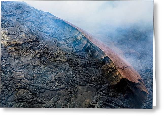Greeting Card featuring the photograph Volcanic Ridge by M G Whittingham