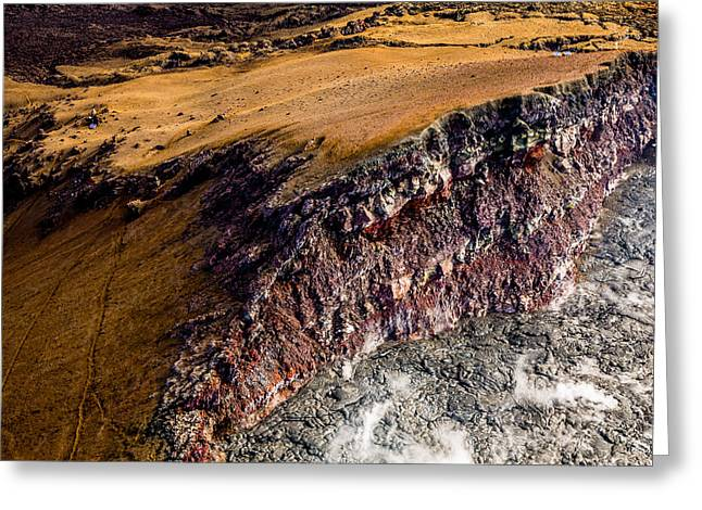 Greeting Card featuring the photograph Volcanic Ridge II by M G Whittingham