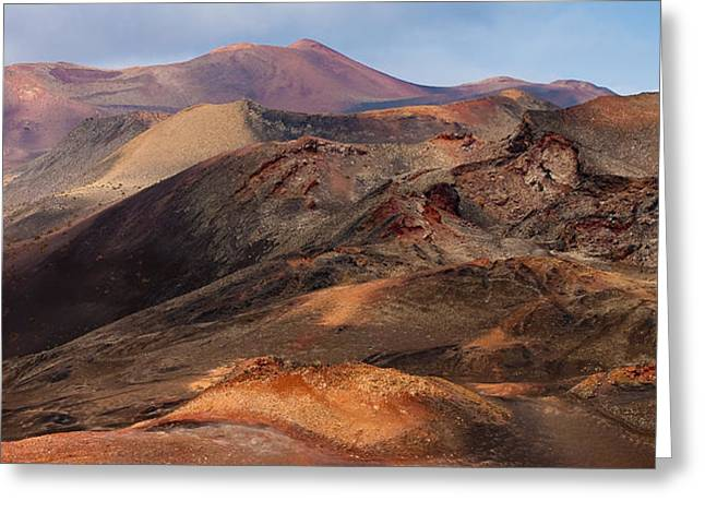 Volcanic Ridges Greeting Card by Neil Buchan-Grant