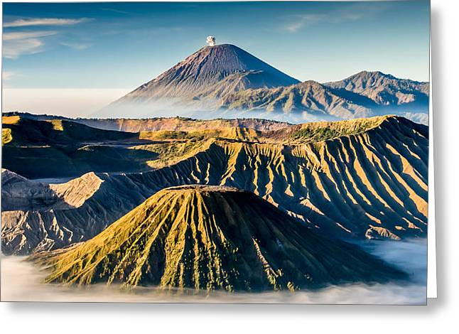 Asien Digital Greeting Cards - Volcano Galore Greeting Card by Philipp Weindich