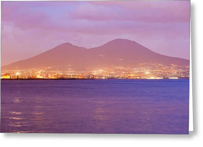 Old Pizza House Greeting Cards - Volcano Vesuvio  Greeting Card by Andre Goncalves