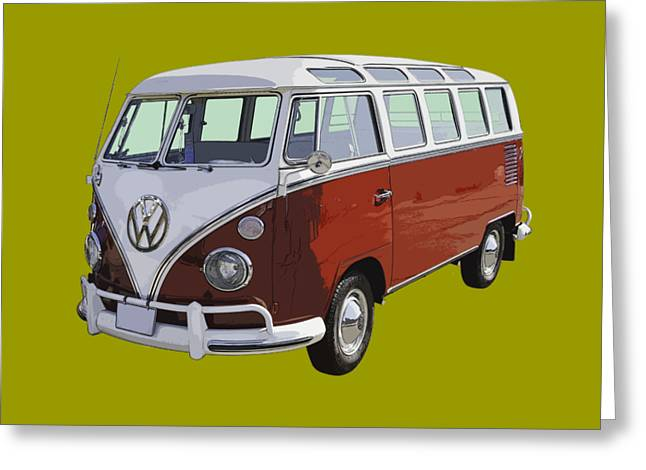 21 Greeting Cards - Volkswagen Bus 21 Window Bus  Greeting Card by Keith Webber Jr