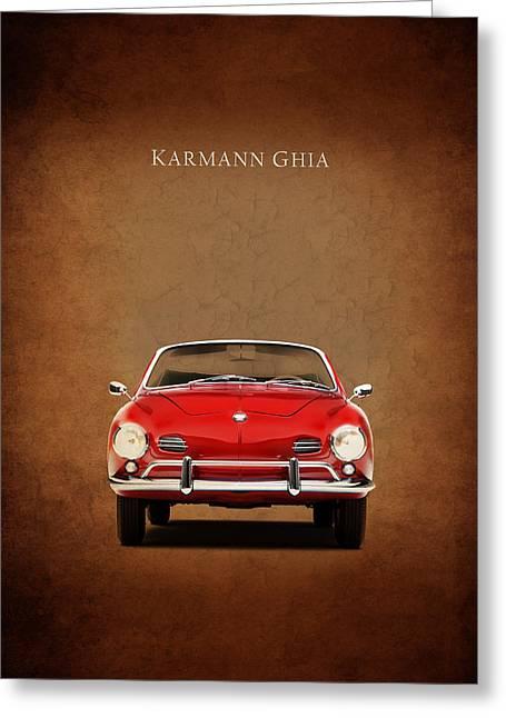 Ghia Greeting Cards - Volkswagen Karmann Ghia Greeting Card by Mark Rogan