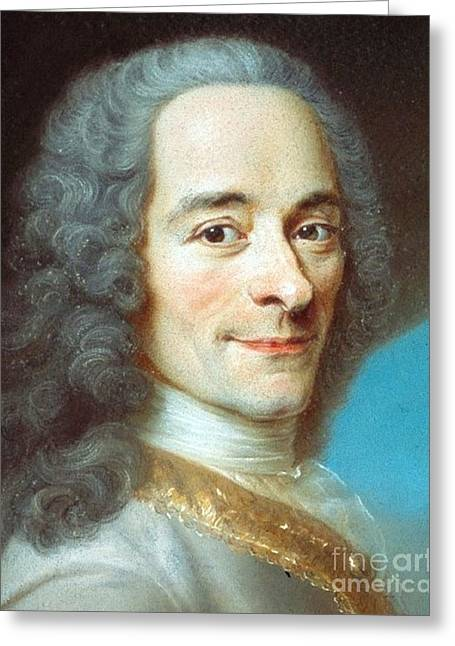 Voltaire Greeting Card by Pg Reproductions