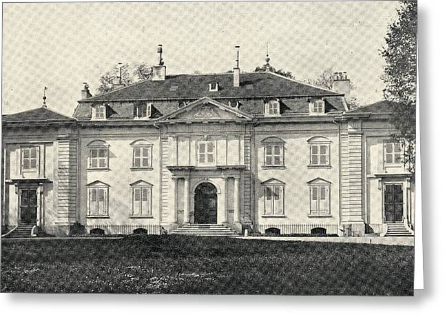 Switzerland Drawings Greeting Cards - Voltaire S Home At Ferney, Switzerland Greeting Card by Ken Welsh