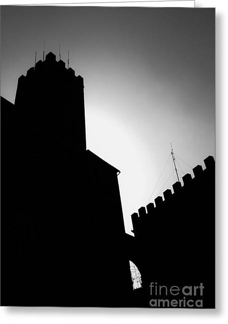Shadows Greeting Cards - Volterra Italy Greeting Card by Edward Fielding