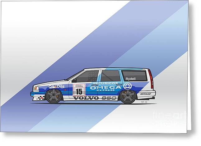 Volvo 850r Twr British Touring Car Championship  Greeting Card by Monkey Crisis On Mars