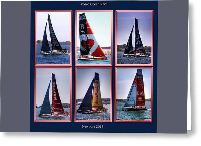 Volvo Ocean Race Newport 2015 Greeting Card by Tom Prendergast